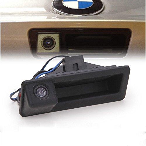 (LIEBMAYA 170 Degree Car Trunk Handle Backup Camera Rear View HD Camera Parking Backup Camera for BMW E60 E61 E70 E71 E72 E82 E88 E84 E90 E91 E92 E93 X1 X5)