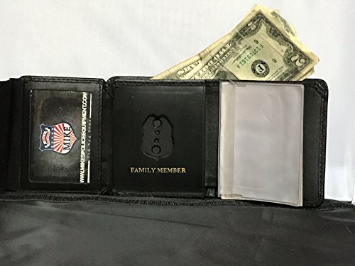 NYPD SGT FAMILY MEMBER MINI BADGE WALLET,CREDIT CARD,ID PICTURES, BILL FOLD ()