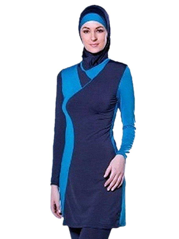 Costume da bagno musulmano donne ragazze costume da bagno Muslim Swimwear ragazze signore Modesto copertura completa Beachwear burqini burkini nadamuSun