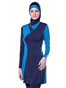 Pañal para baño musulmán Mujeres Niñas Traje de baño Muslim Swimwear Niñas Damas Modeste Protectora Completa Beachwear Burqini Burkini