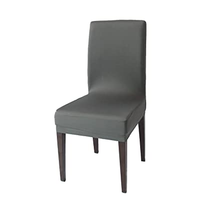Stupendous Gray Spandex Stretch Dining Chair Covers 4 Pcs Knit Removable Washable Dining Chair Slipcovers Gray 4 Pabps2019 Chair Design Images Pabps2019Com
