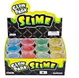 Glow In the Dark Slime 12 Pack Assorted Neon Colors- Green, Blue, and Orange and Yellow - Thinking Putty - Mixed By Me Thinking Putty Kit - Slime Mud – Great For Any Child Favor, Goody Bag Filler