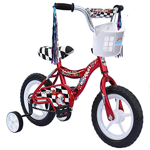 ChromeWheels 12 inch Bike for 2-4 Years Old Kids, EVA Tires and Training Wheels,Great for Beginner, Red (Best Bicycle For 3 Year Old Boy)