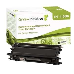 Green Initiative Remanufactured High Yield Black Laser Toner Cartridge for Brother TN115BK/TN110BK)