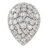 4.5 Carat Natural Diamond (F-G Color, VS1-VS2 Clarity) 14K White Gold Luxury Cocktail Ring for Women Exclusively Handcrafted in USA