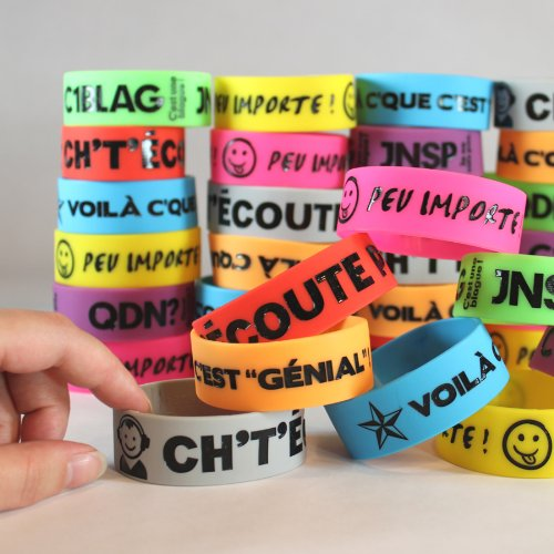 Big Bold French Wristbands Set of 40 by Teacher's Discovery (Image #3)