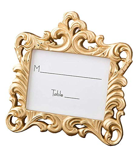 - 98 Fashioncraft Gold Baroque Style Frame Place Card Photo Holder Wedding Bridal Shower Favors