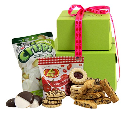 Luxury Gift Tower (Gluten Free Palace Be Mine! Kosher Valentines Day Gluten Free Gift Basket, Gluten Free Valentine Treats, Valentine Gift Basket, Small Tower Gift Boxes)