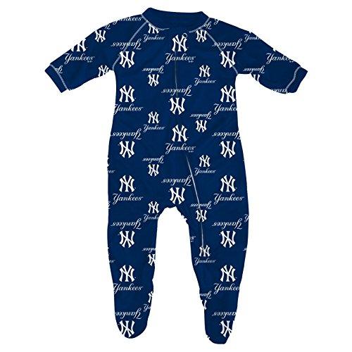 Yankees Baby Logo Sleeper Blue