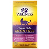 Wellness Complete Health Natural Grain Free Dry Cat Food,  Indoor Health Salmon & Herring Meal Recipe, 5.5-Pound Bag