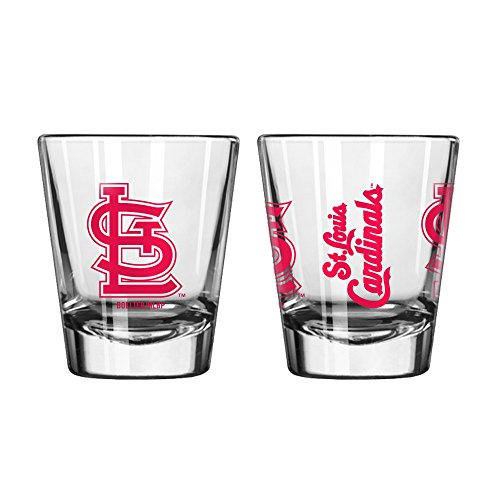 Official Fan Shop Authentic MLB Logo 2 oz Shot Glasses 2-Pack Bundle. Show Team Pride at home, your Bar or at the Tailgate. Gameday Shot Glasses for a goodnight (St. - Glasses With Louis