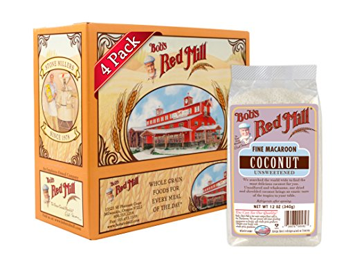 Bob's Red Mill Fine Macaroon Coconut (Unsweetended), 12-ounce (Pack of 4)