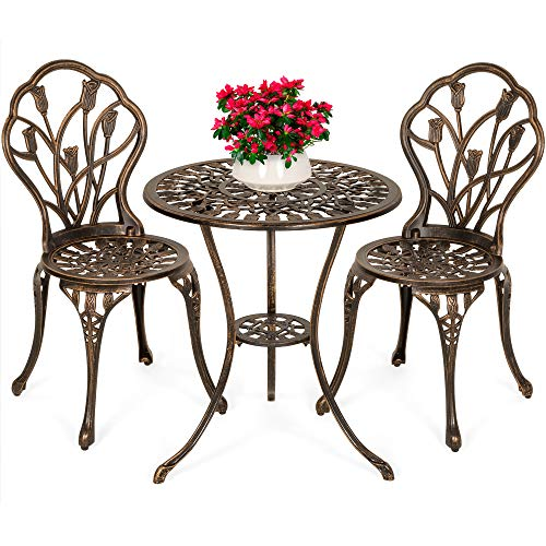 Best Choice Products 3-Piece Outdoor Rust-Resistant