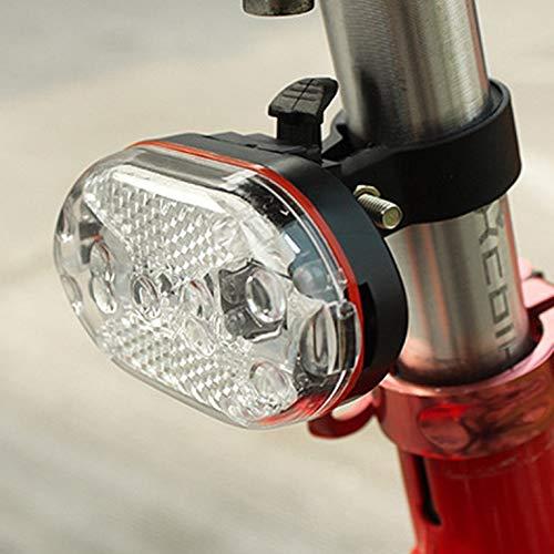 ManalaSa USB 9LED De Luz Trasera De La Bici Recargable Potente Seguridad Impermeables Trasera Blanca