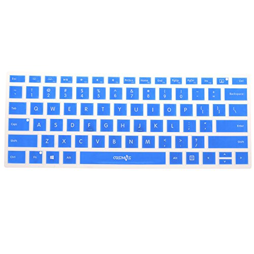 Cosmos Silicone Soft Keyboard Cover Skin Protector for 13.5-inch Microsoft Surface Book, Ultrathin and Ergonomic (Silicone Keyboard Cover - Blue)