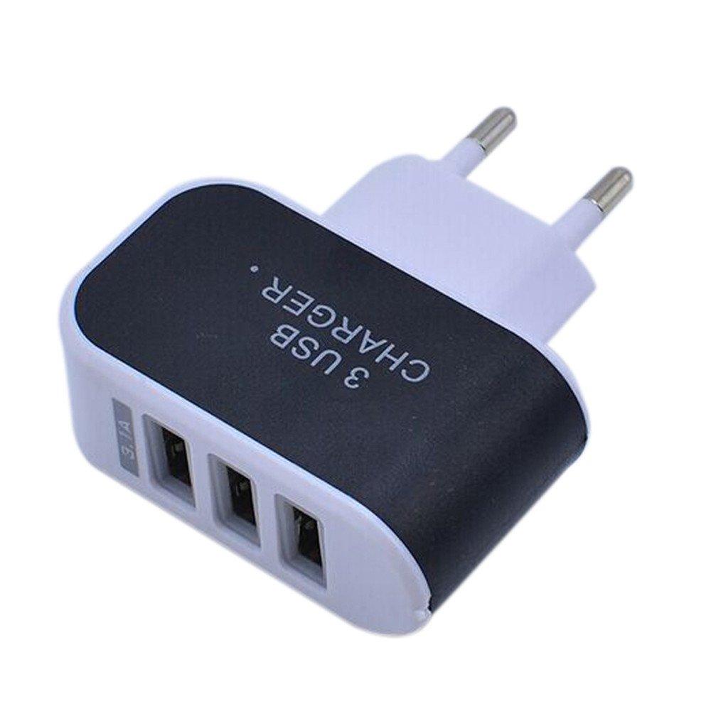 Vimoli Adaptador Triple del Cargador USB Puerto Pared del Recorrido del hogar de alimentación de CA 3.1A Enchufe de la UE para iPhone Samsung Galaxy ...