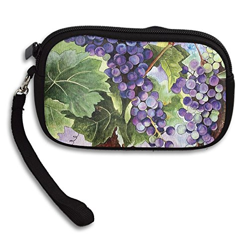 Deluxe Purse Leaves Grape Receiving Green Portable Printing Bag Fruit Small tWqBFnnx