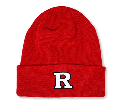 Elite Fan Shop Rutgers Scarlet Knights Knit Winter Beanie Hat (Scarlet Knit Hat)