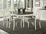 Coastlink Vegas 7 Piece Round To Oval Extension Dining Table Set for 6 (Oval Back Chairs)