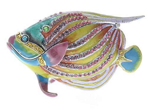 Fish Trinket (Pink Color Angel Fish Jeweled Swarovski Crystal Decorative Trinket Box)