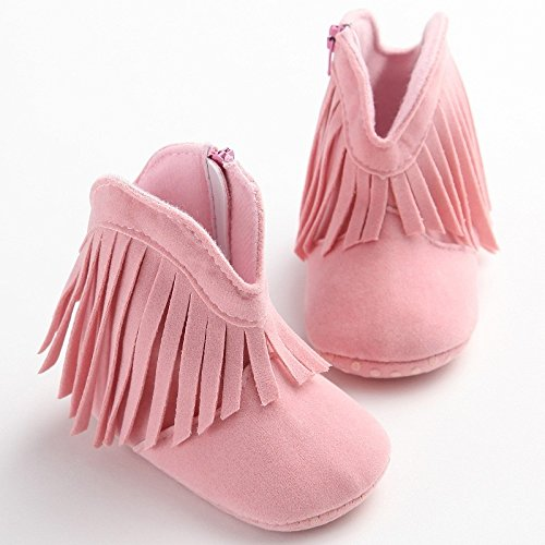 [Walid-Newborn Baby Girl Boy Kids Prewalker Solid Fringe Shoes Infant Toddler ( 12-18 months )] (Halloween Costumes For 16 Month Old Girl)