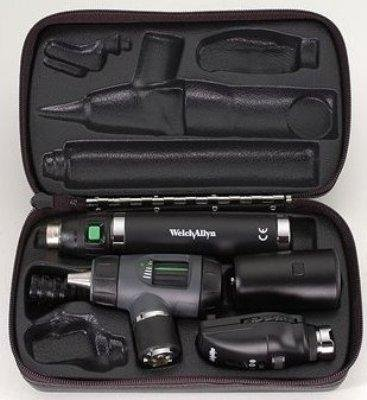 Convertible Rechargeable Handle - Welch Allyn 97101-MPC (DISCONTINUED) 3.5v Diagnostic Set with PanOptic Ophthalmoscope, MacroView Otoscope with Throat Illuminator, Rechargeable/Convertible Handle, and Soft Case