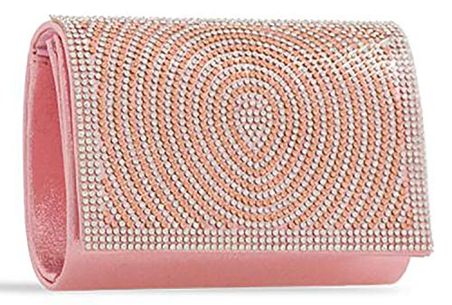 Designer Pink Jewel Shine You Bag Soft Clutch Evening Ring Ladies RZqzxwdz