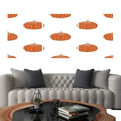 (UHOO 3 Piece Wall Art Painting Pumpkin in Flat Style. Living Room Kitchen)