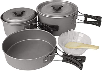 KOET Kit de utensilios de cocina para camping, juego de ...