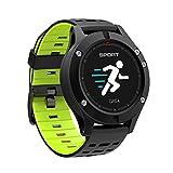 LayOPO - Reloj inteligente F5 con alarma GPS y termómetro con frecuencia cardíaca, Bluetooth 4.2, IP67, impermeable, deportivo, reloj inteligente, para caminar, correr, escalar, natación, ciclismo, Verde
