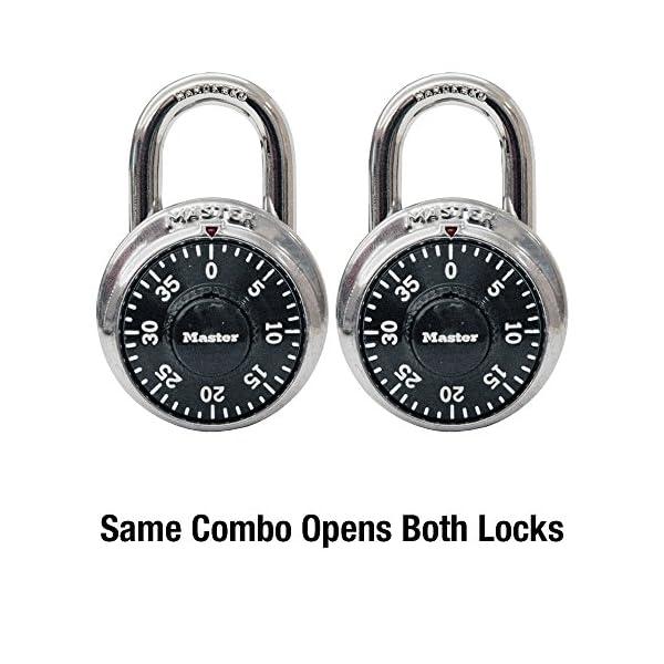 Master-Lock-1500T-Locker-Lock-Combination-Padlock-2-Pack-Black