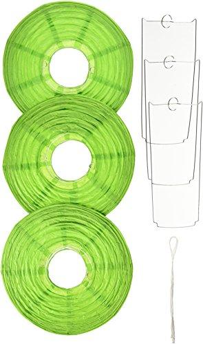 Amscan 24055.53 Round Paper Lanterns, 9 1/2 inches, Kiwi