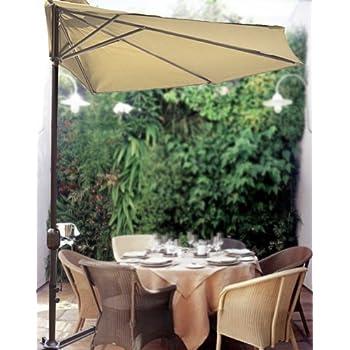 STRONG CAMEL 10u0027 Patio Half Umbrella Wall Balcony Sun Shade Garden Outdoor  Paraso BEIGE