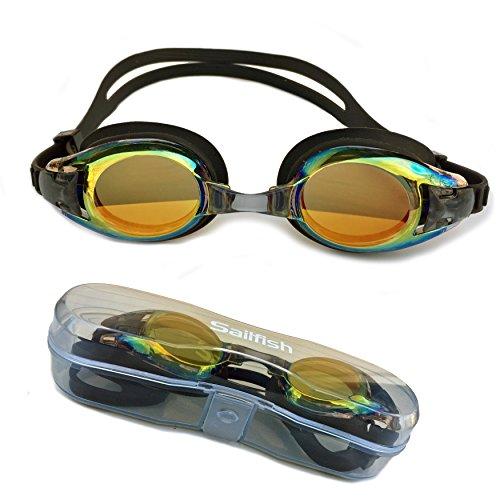 ON SALE! Best Kids Swim Goggles - Anti Fog - Mirror Coating - Latex Free - Easy Adjustable