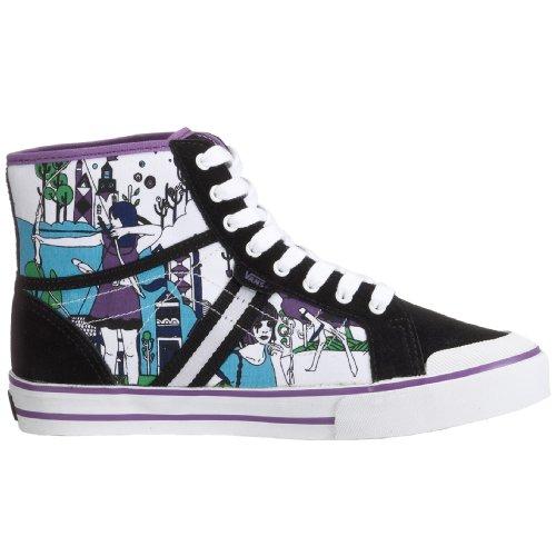 Vans - Zapatillas de skateboarding para mujer Negro