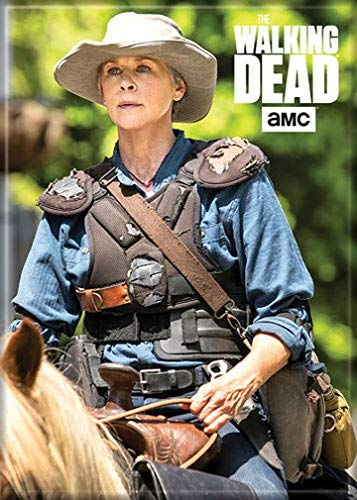 """Ata-Boy The Walking Dead Carol on Horse 2.5"""" x 3.5"""" Magnet for Refrigerators and Lockers"""