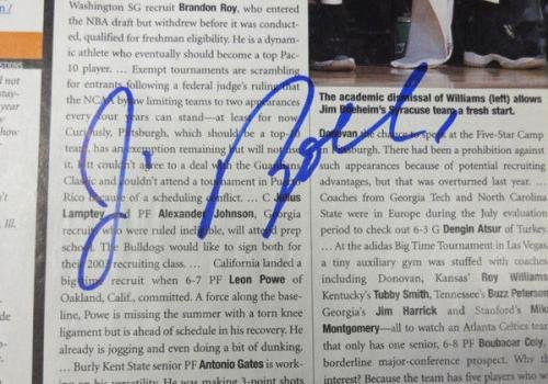 Jim Boeheim Autographed Signed 9x10.5 Magazine Page Photo Syracuse #S64950 PSA/DNA Certified Autographed College Magazines