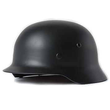 HRS WW2 Alemán M35 Casco de Acero, Hombre, Negro