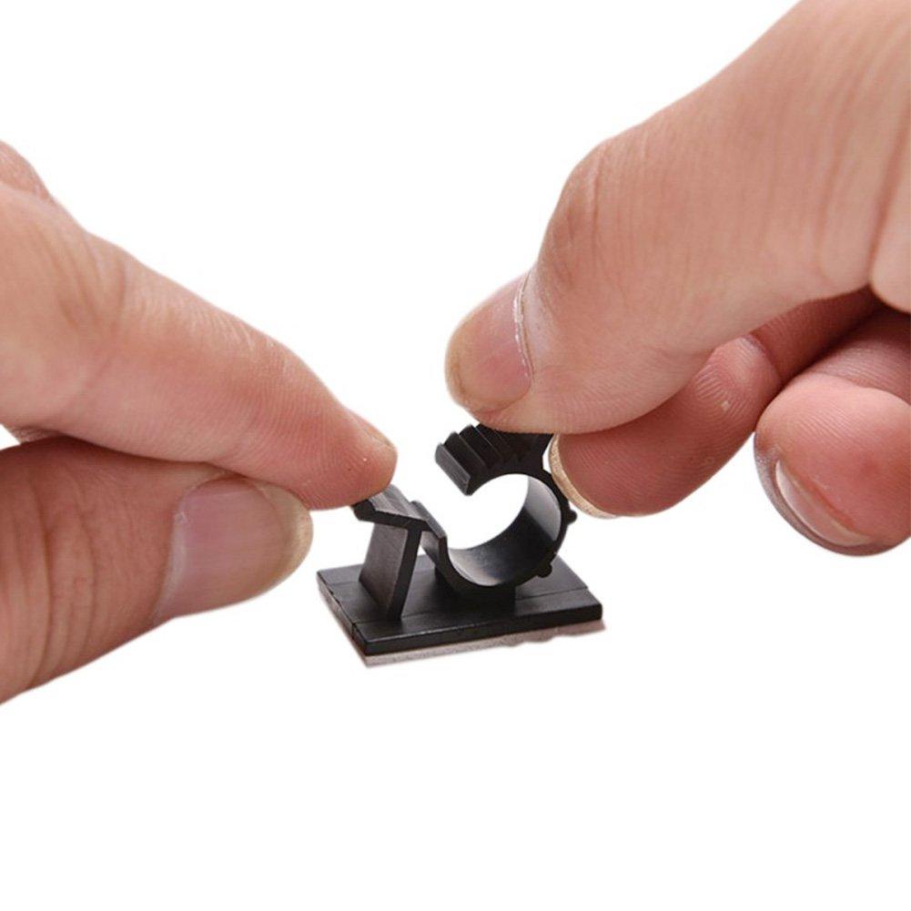 2/cm Noir Multipurpose Stable Organiseur de c/âble Support 100/Packs r/églable Fil Cordon Autocollant c/âble Clips pour Home//Office//Car Fil Managment Clips de c/âble adh/ésif