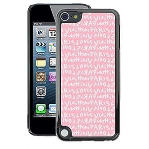 Supergiant (Pink Paris Love Text Girls Romantic) Impreso colorido protector duro espalda Funda piel de Shell para Apple iPod Touch 5