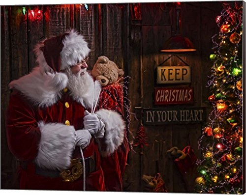 - Silent Night by Santa's Workshop Canvas Art Wall Picture, Museum Wrapped with Espresso Sides, 20 x 16 inches