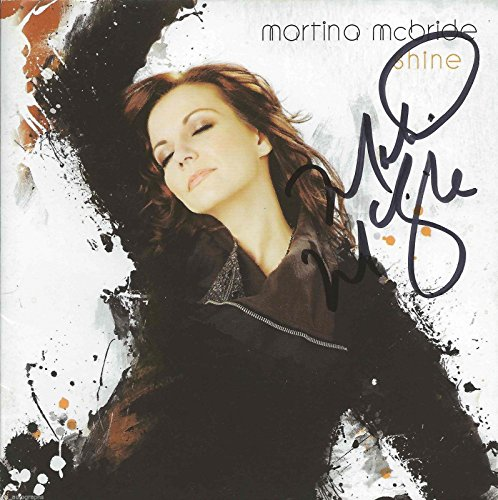 martina-mcbride-real-hand-signed-shine-cd-2-with-jsa-coa-country-autographed