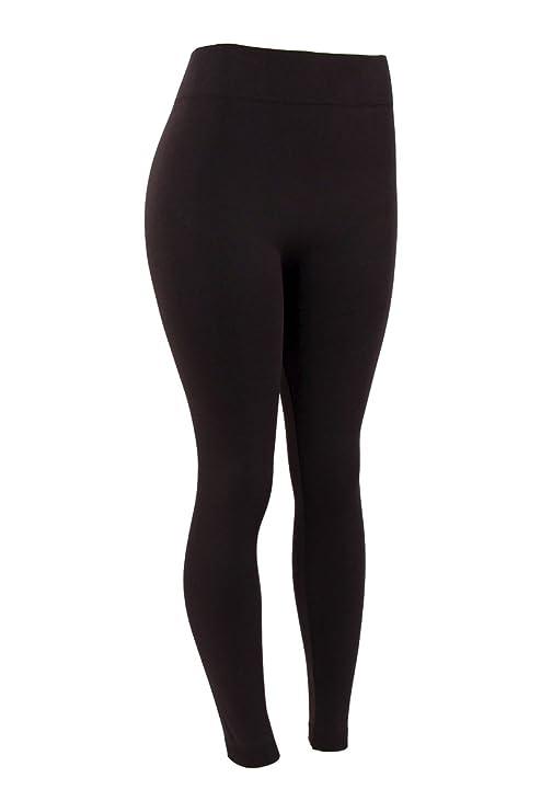 cec04776eb2ad3 Mopas Women's Plus Size Fleece Lined Legging-One Size-Black: Amazon ...