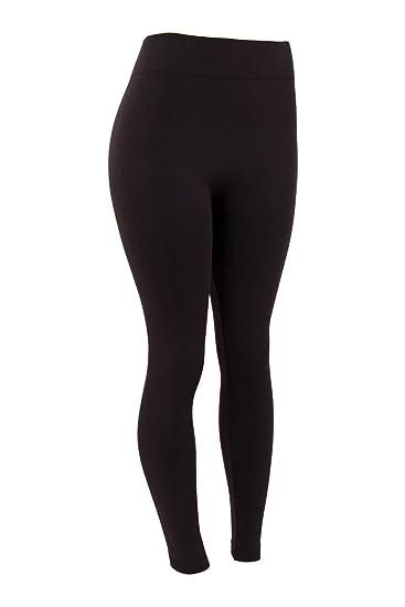 6e044d732a2 Mopas Women s Plus Size Fleece Lined Legging-One Size-Black at ...