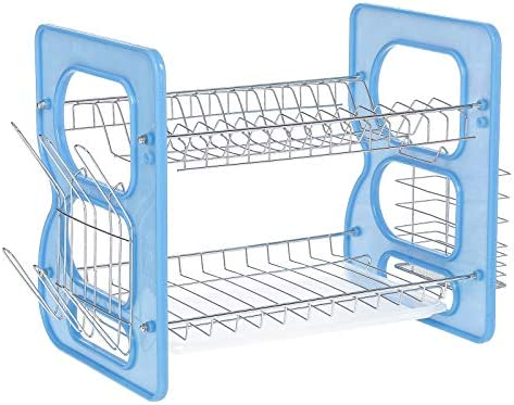 1 Layer Dish Drainer, Silver/blue - Ie-300
