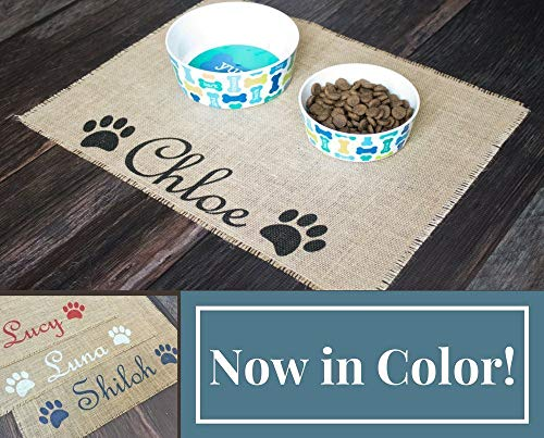 Custom puppy dog pet placemat (Personalized Dog Mat)