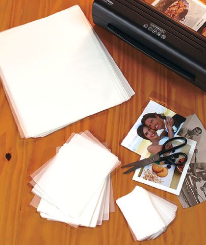 """UPC 803355725167, Laminating Sheets, 100 Piece Triple Pack with 30 Letter Sheets, 9"""" X 11-1/2"""" 40 Photo Sheets, 4-1/4"""" X 6-1/8"""", 30 Name Card Sheets, 2-3/8"""" X 3-3/4"""""""