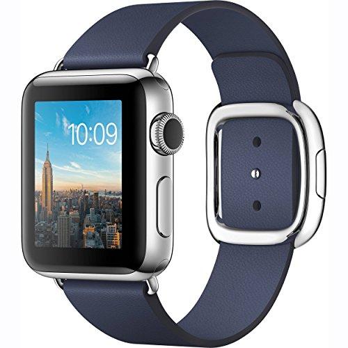 Apple Watch Series 2 38mm Smartwatch ( Stainless Steel Case, Midnight Blue Medium Modern Buckle Band) by Apple Watch 42mm