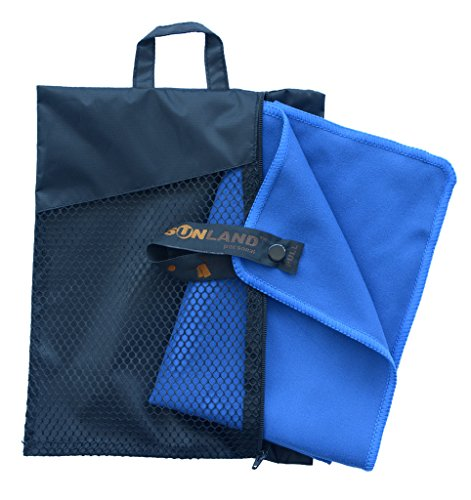 SUNLAND Microfiber Beach Towels Ultra Compact Sports Bath Travel Towels (Dark Blue, 32inch X 60inch)