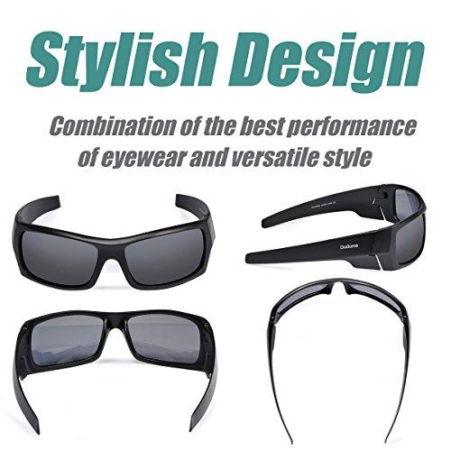 7184c8918de Duduma Tr601 Polarized Sports Sunglasses for Baseball Cycling Fishing Golf  Superlight Frame(139 Black matte